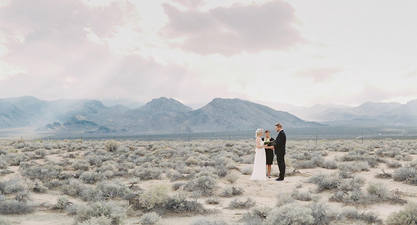 las vegas desert wedding