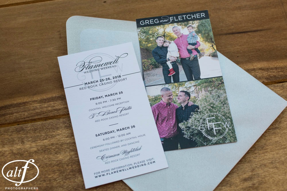 modern elegant wedding stationery