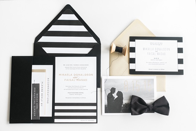 Wedding invitations and save the dates
