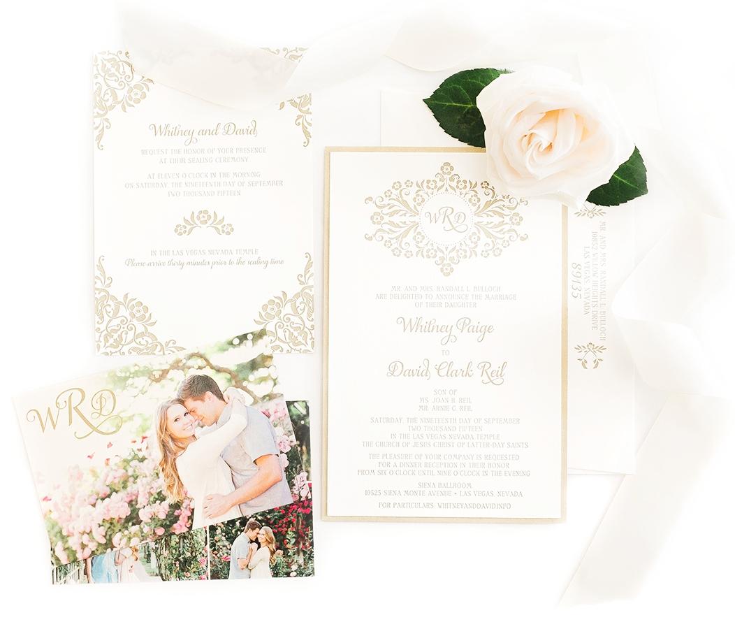 custom designed wedding invitation