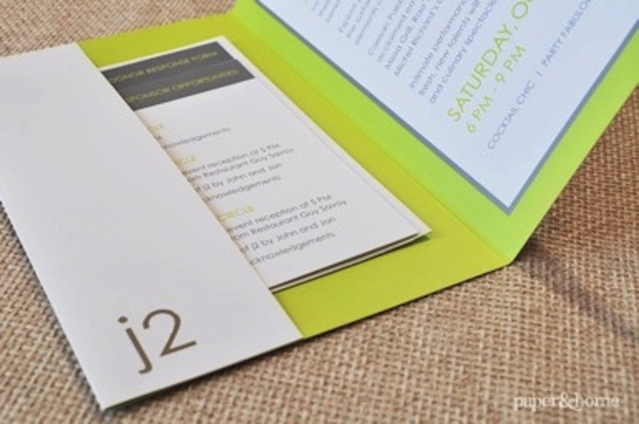 J2 Pocket Fold Invitation
