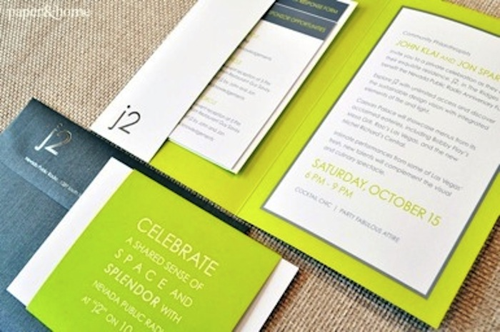 Foil Stamped Pocket Invitation