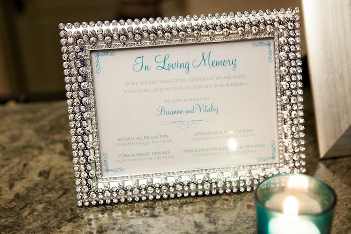 Couture In Loving Memory Sign