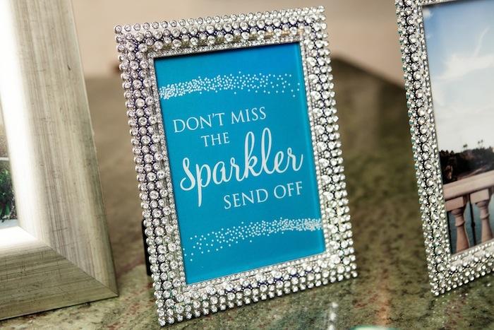 Couture Sparkler Send Off Sign