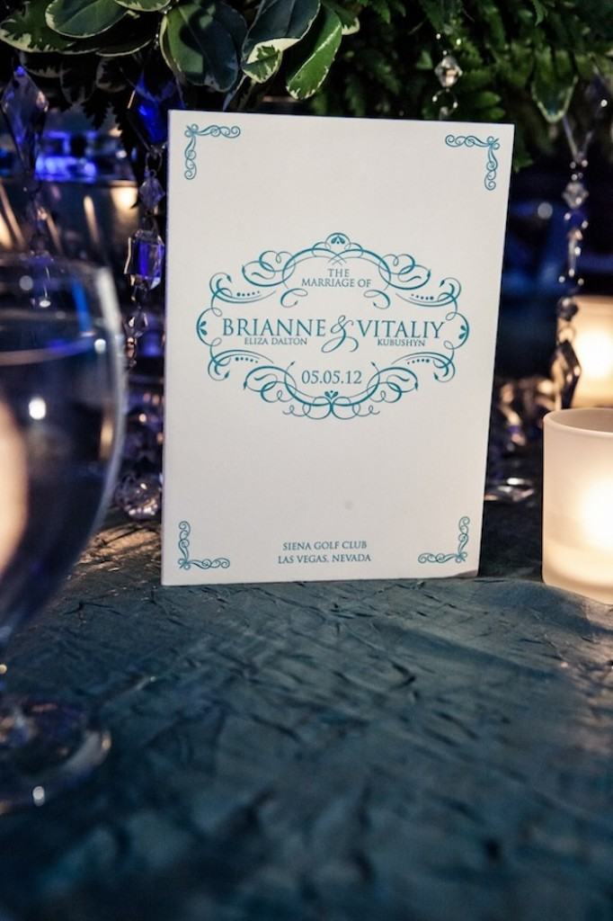 Couture Letterpress Wedding Ceremony Program Brianne and Vitaliy