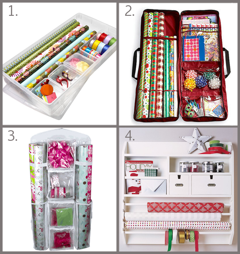 Gift Wrap Storage Solutions