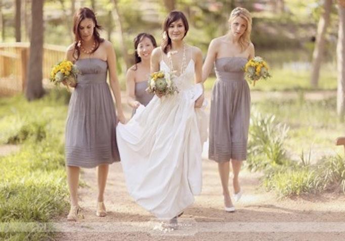 Eco-Friendly Bride and Bridesmaids