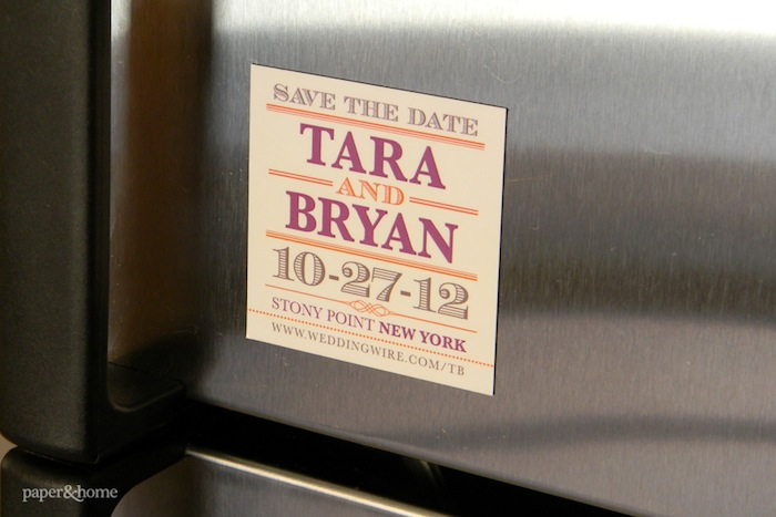 Paper and Home Save the Date Magnet