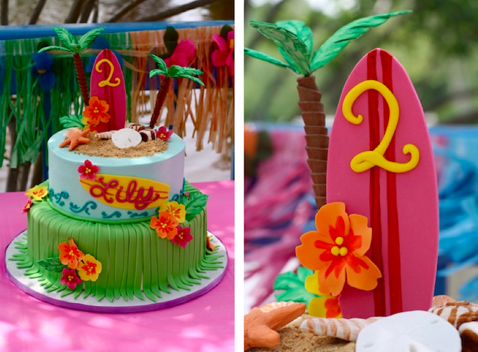 Cute Beach Luau Cake