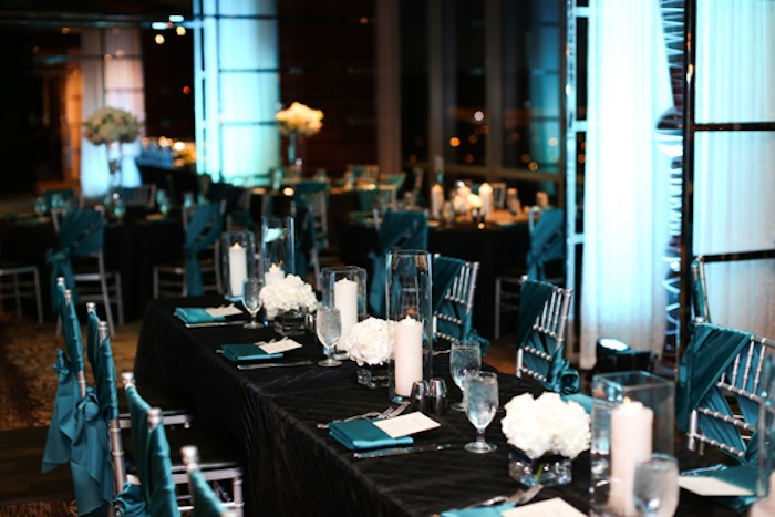 Black and Teal Reception at M Resort Las Vegas