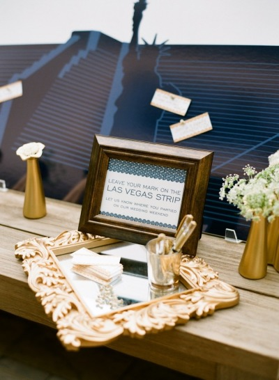 Make your mark on the Las Vegas Strip wedding idea