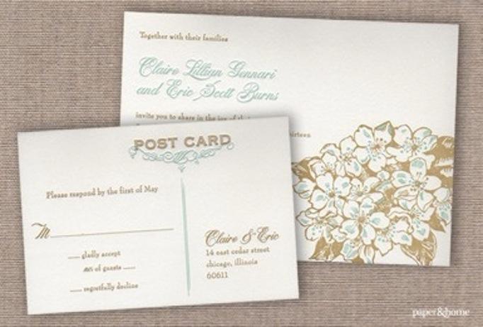 Wedding Reply Postcard