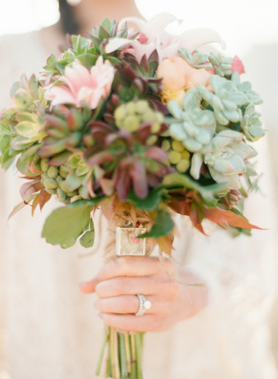 Succulent Bouquet by I Do Wedding Flowers