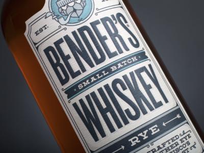Typography Rye Whiskey Label