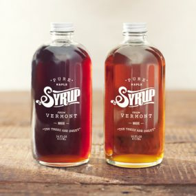 Vintage Glass Syrup Bottle Packaging