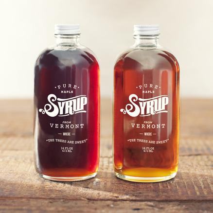 Vintage Glass Syrup Bottle Packaging