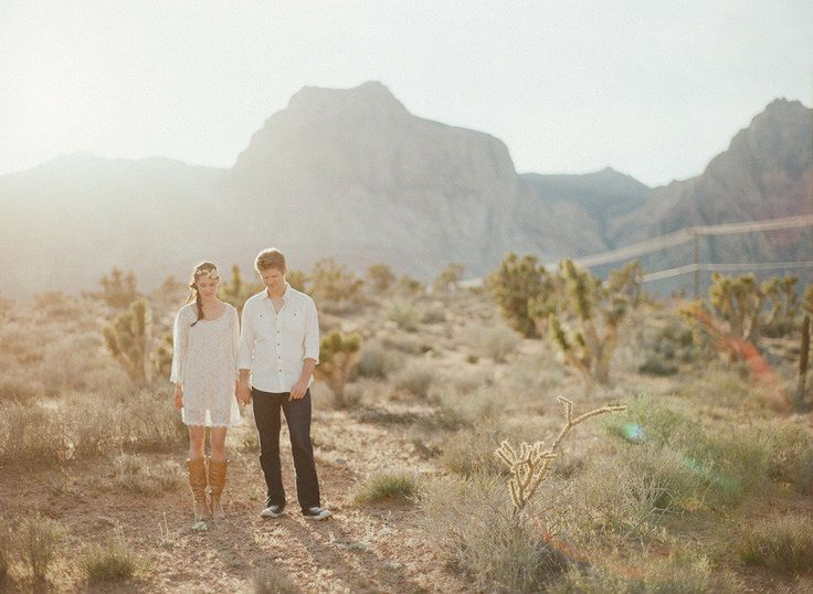 Las Vegas Desert Engagement Session Gaby J. Photography Paper and Home