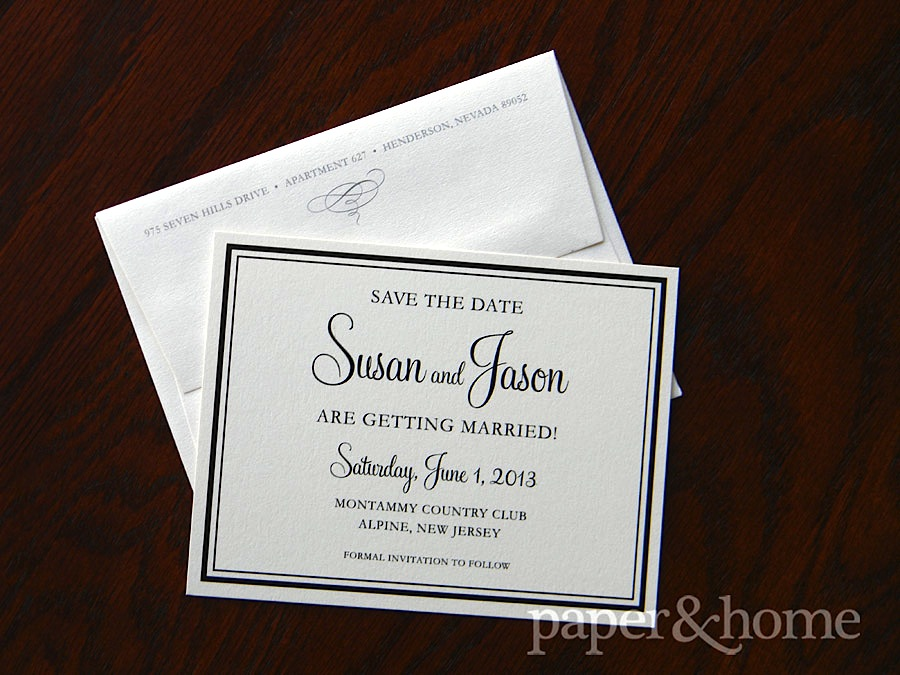 simple elegant save the dates and wedding invitations paper and home