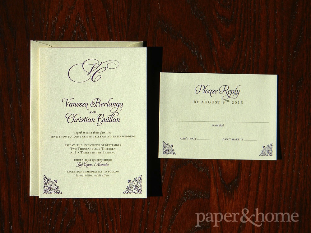Classic Champagne Shimmer Wedding Invitation Set
