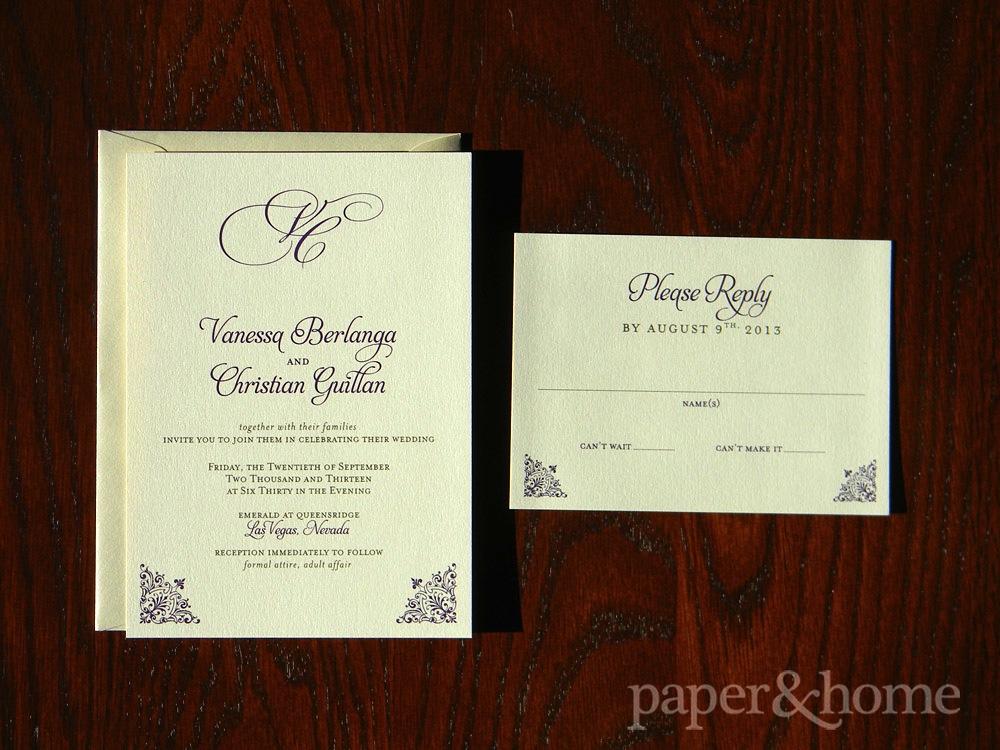 Clic Champagne Shimmer Wedding Invitation Set