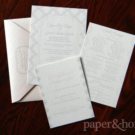 Vintage Inspired Wedding Invitation Set