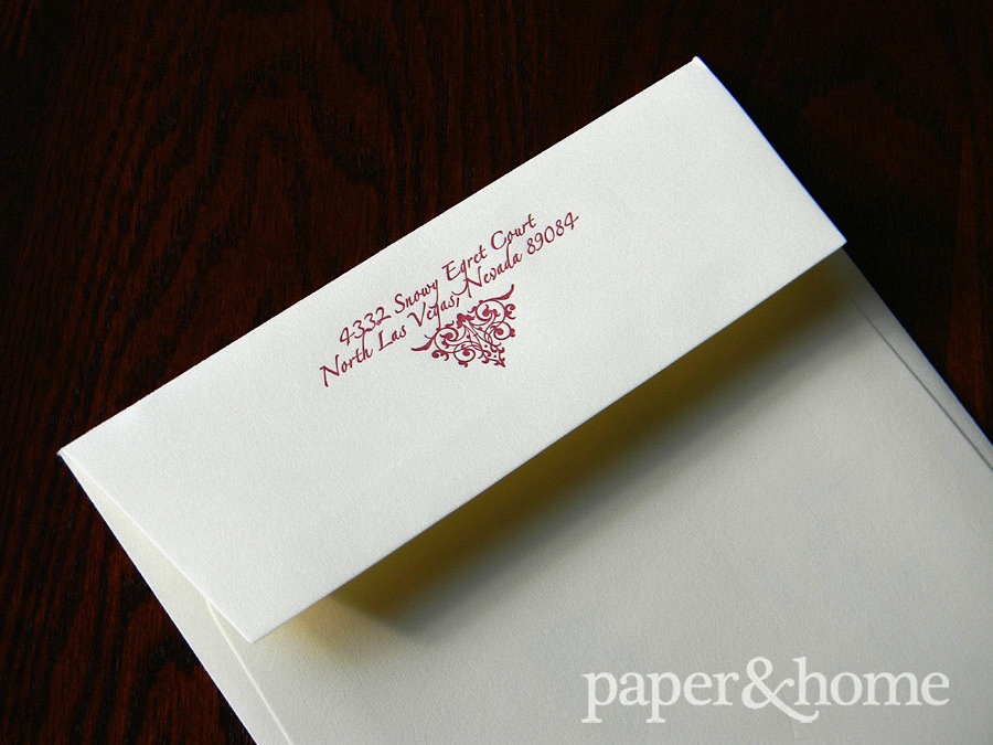 Wedding Invitations Santa Monica: Melanie & Stephen - Paper and Home