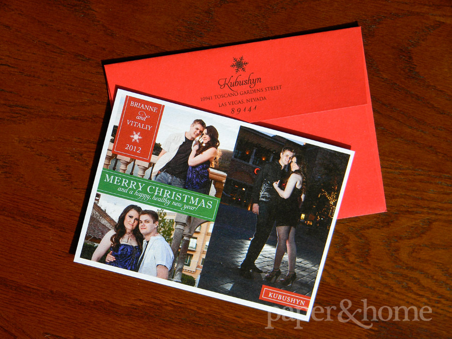 Photo Christmas card Las Vegas