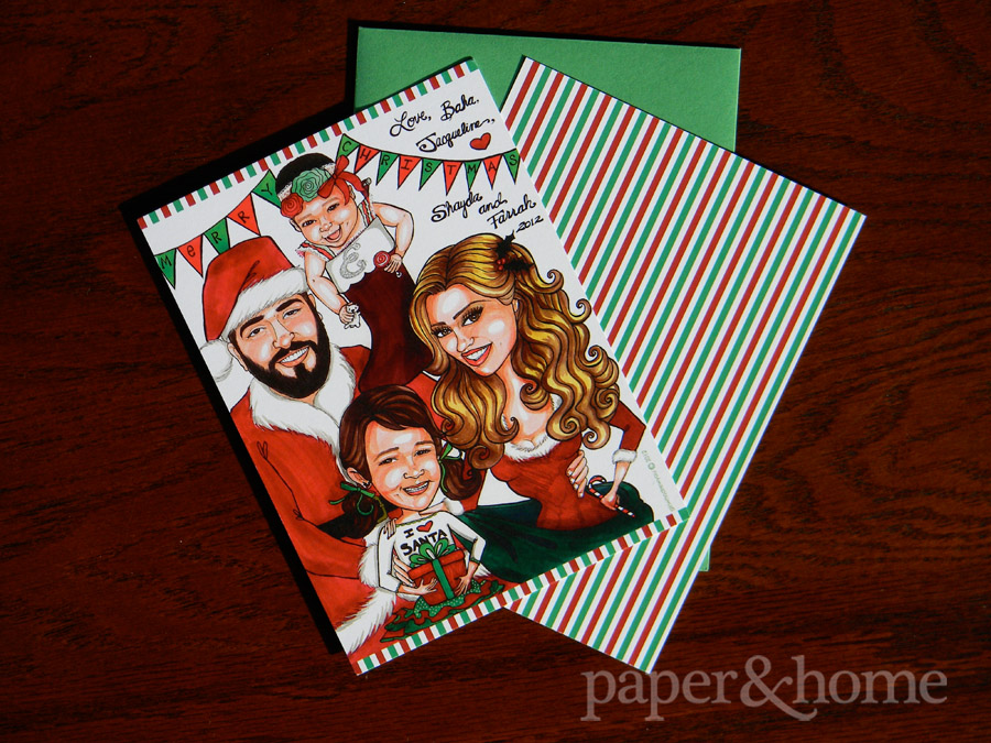 Hand Drawn Illustration Family Holiday Card