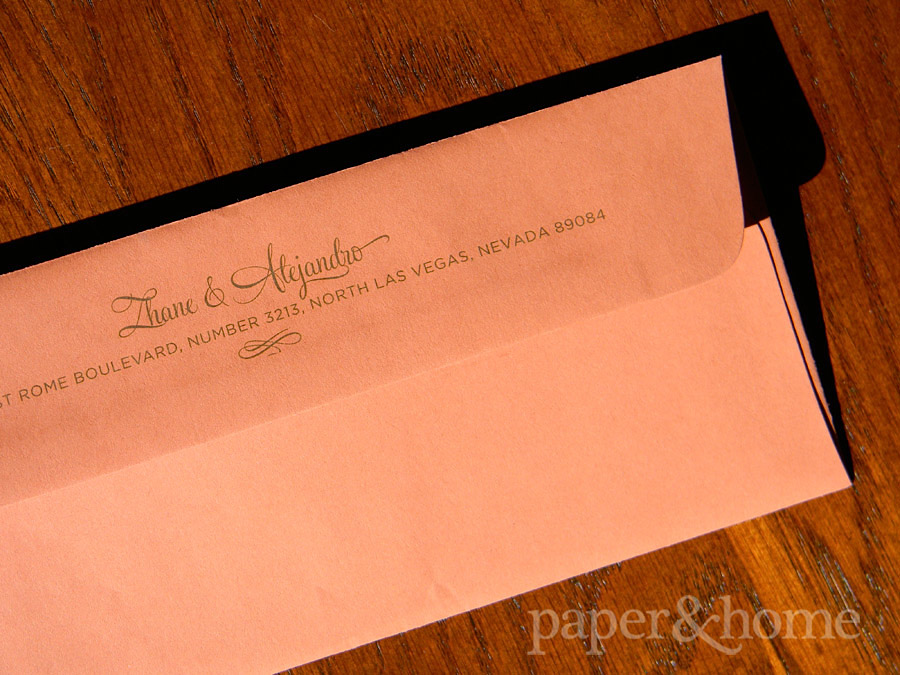 Rust Orange Long Envelope with Return Address Printing