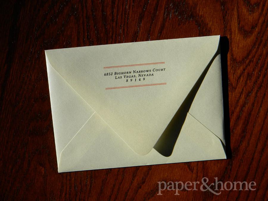 Champagne Shimmer Euro Flap Envelope with Return Address