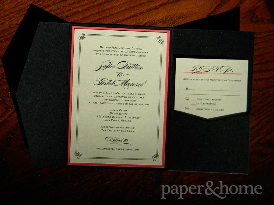 Wedding Invitations Las Vegas Sofia Todd Paper and Home