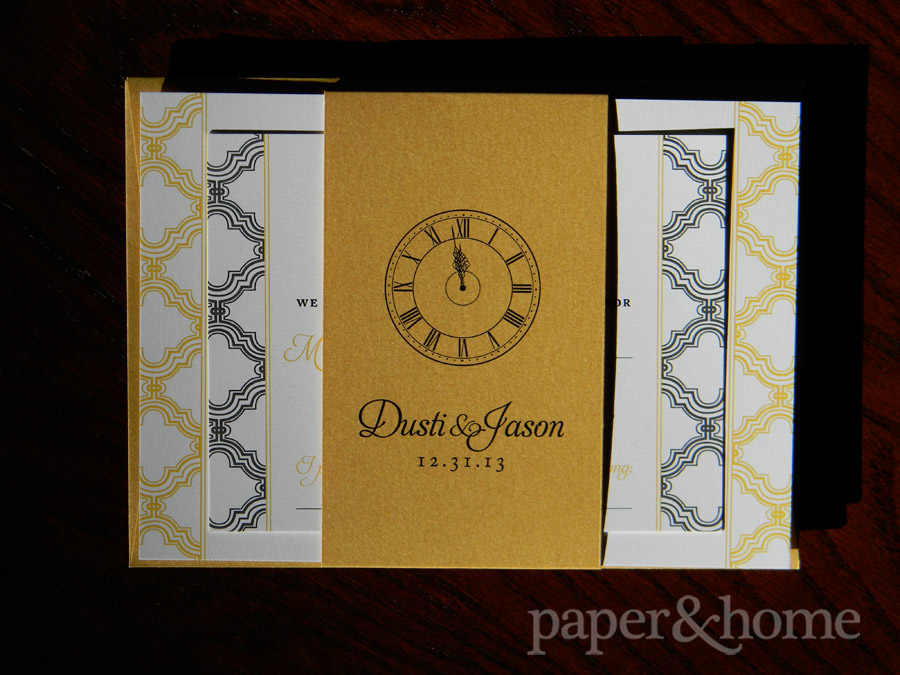 New Years Eve Wedding Invitations Dusti Jason Paper and Home