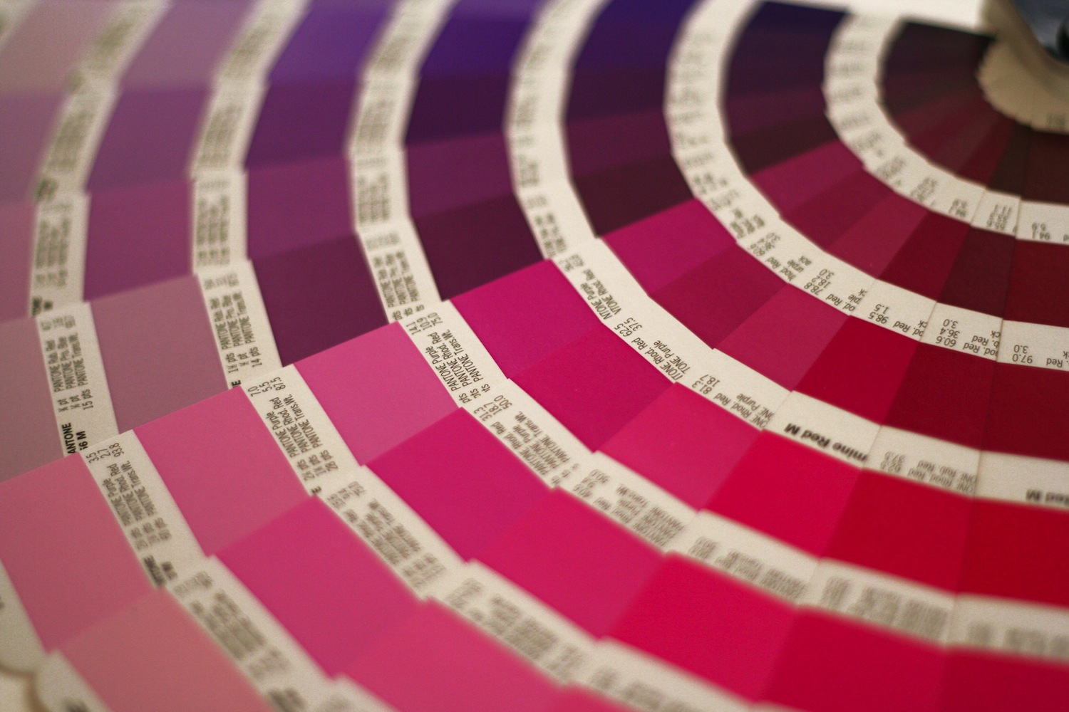 Red Purple Color Swatch Book