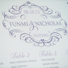 Ornate Wedding Logo for a Seating Board