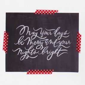 Oh My Deer Hand Lettered Print