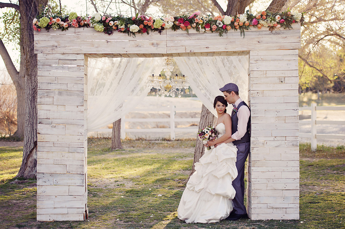 Enchanted Garden Wedding Ideas Chuppah Bride and Groom