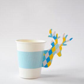 Paper Deer Cup Holder