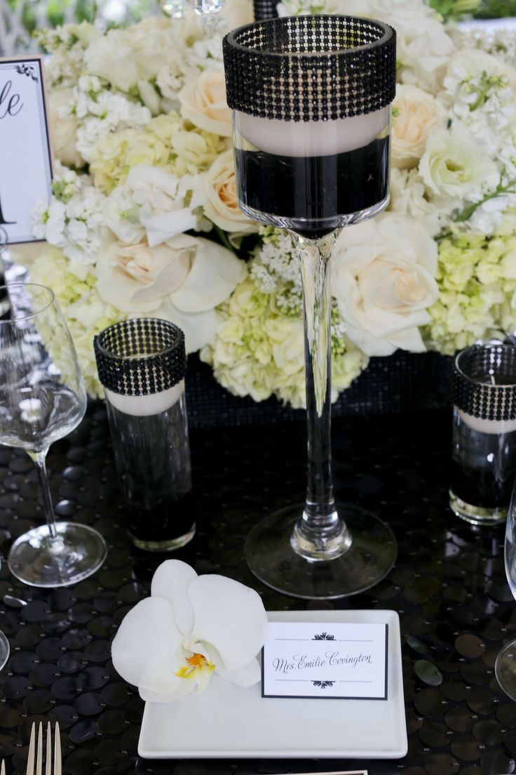 Modern Meets Old Hollywood Place Card