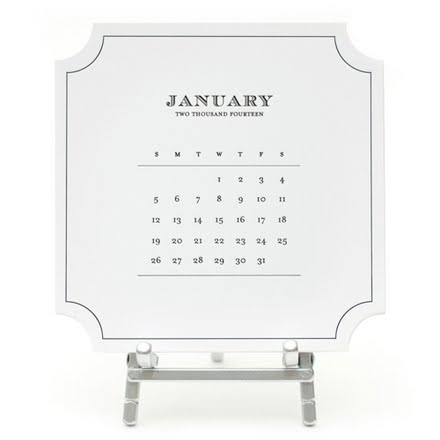 Sugar Paper 2014 Roosevelt Desk Calendar
