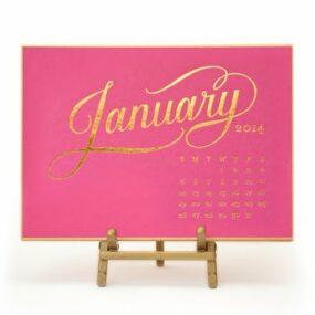 Sugar Paper 2014 Kate Desk Calendar