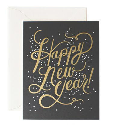 Rifle Paper Co. Shimmering New Year Boxed Notes