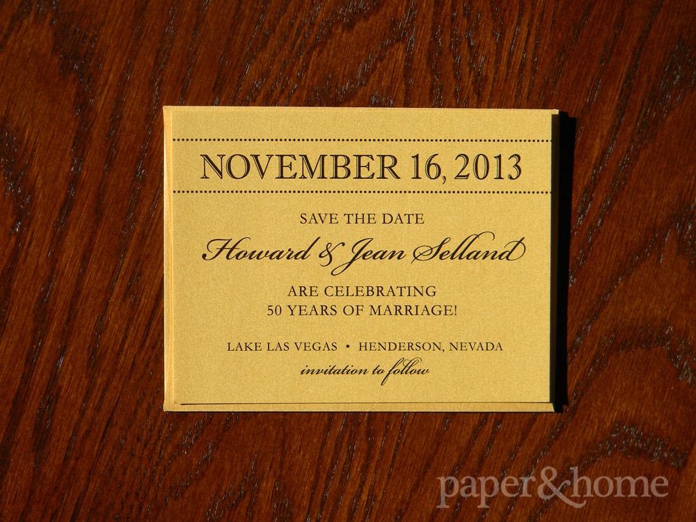 Golden Anniversary Save the Date