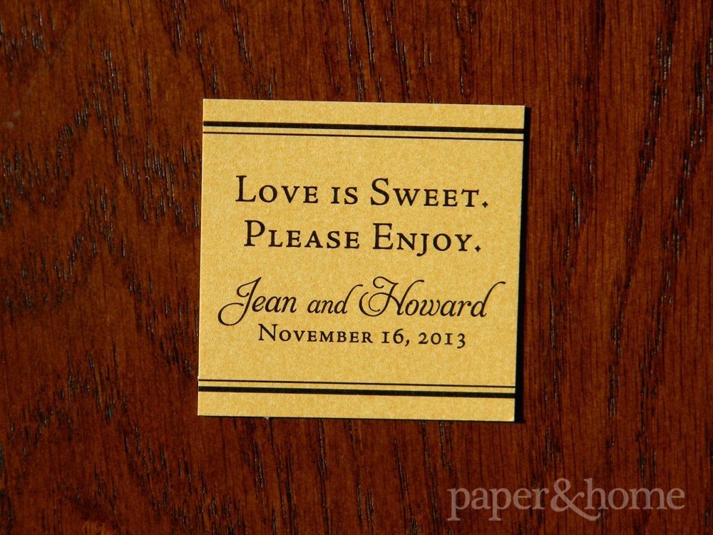 Gold Shimmer Candy Tag