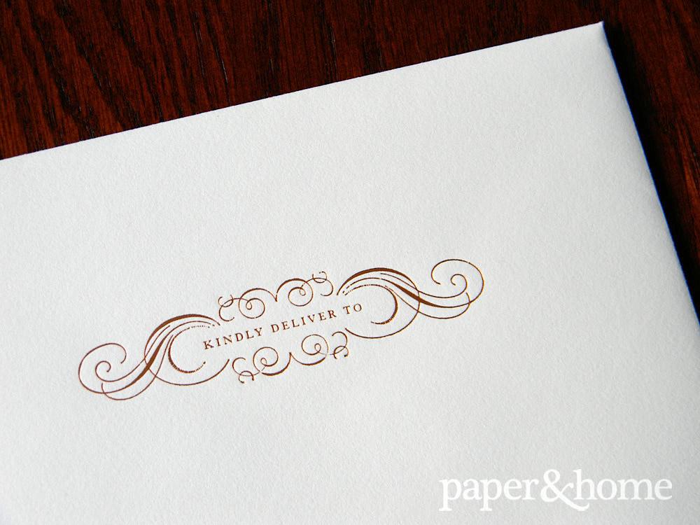 Copper Foil Envelope Front