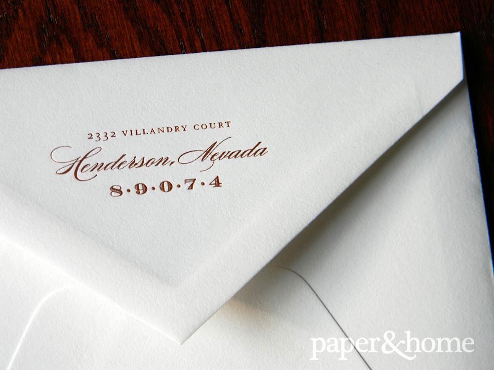 Copper Foil Envelope Back