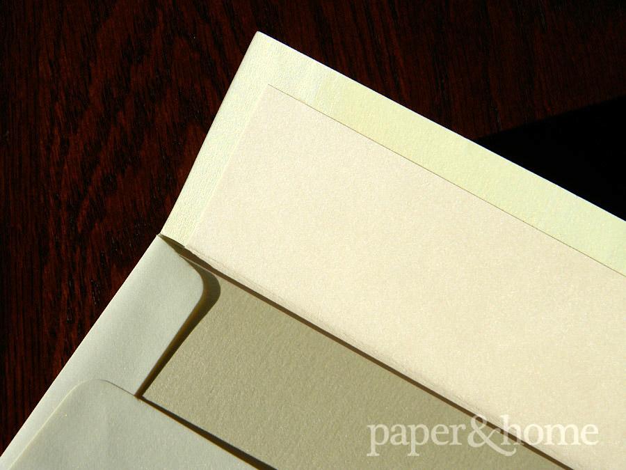 Champagne Shimmer Envelope with Blush Liner