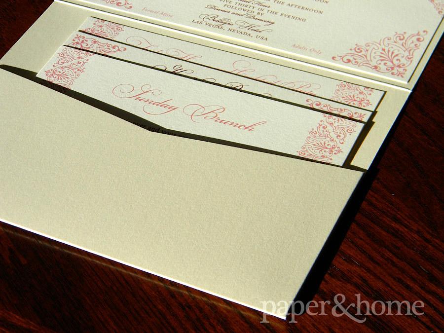 Indian Pocket Wedding Invitation Enclosure Cards on Shimmer Paper