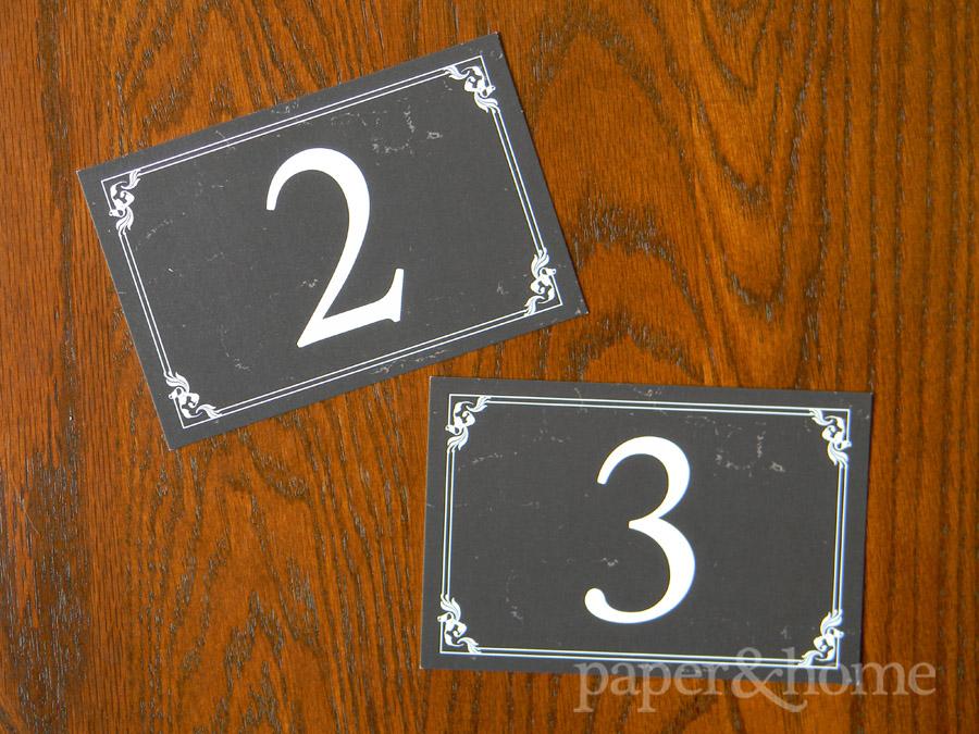 Vintage Hollywood Table Numbers