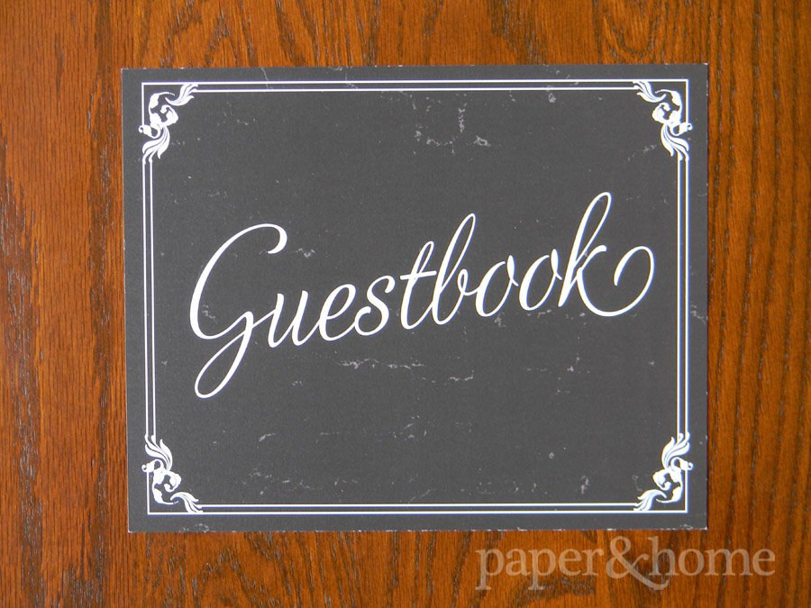 Vintage Hollywood Guestbook Sign