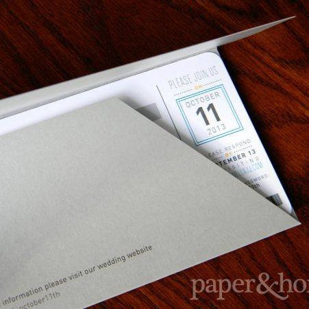 Custom Plane Ticket Wedding Invitation in Pocket